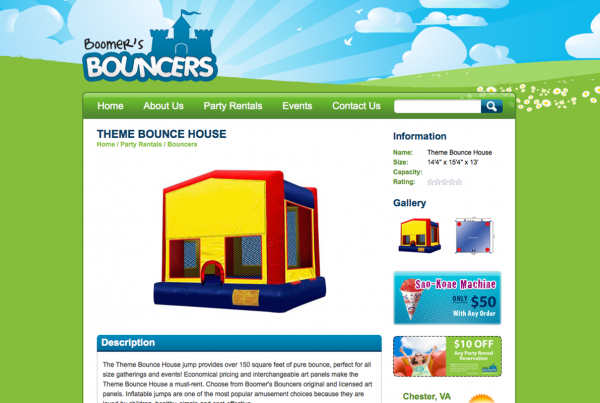 Boomer's Bouncers Website